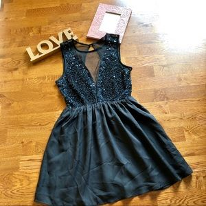 Forever 21 black sequin dress
